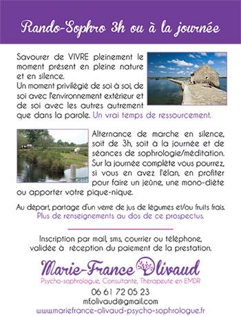 Rando Sophrologie Marie France olivaud